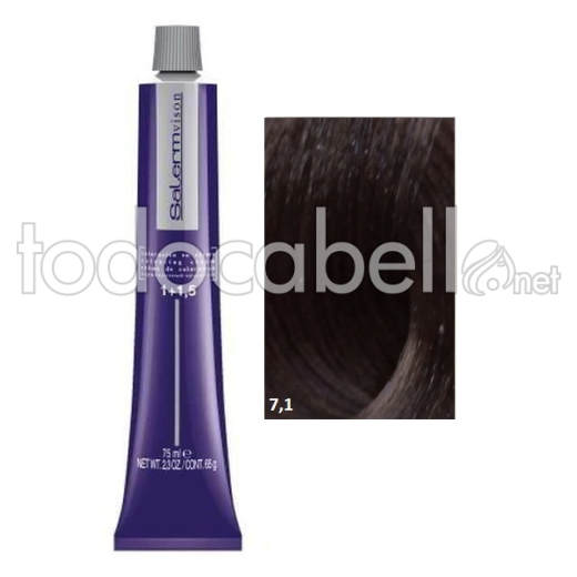 Tinte Salermvison 7,1 Rubio Ceniza 75ml